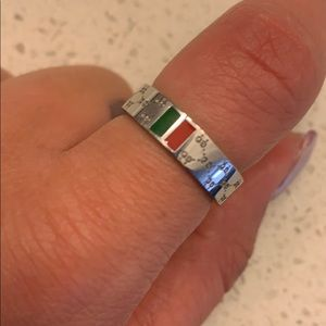 Stainless Steel Red/Green GG ring